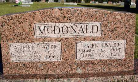 TAYLOR MCDONALD, ATHLEEN - Conway County, Arkansas | ATHLEEN TAYLOR MCDONALD - Arkansas Gravestone Photos