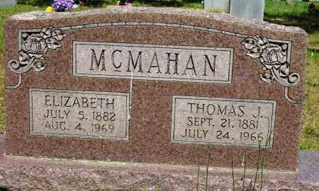 MCMAHAN, ELIZABETH - Conway County, Arkansas | ELIZABETH MCMAHAN - Arkansas Gravestone Photos