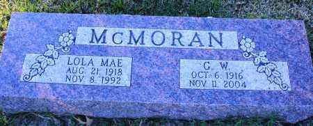 MCMORAN, LOLA MAE - Conway County, Arkansas | LOLA MAE MCMORAN - Arkansas Gravestone Photos