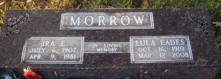 MORROW, IRA E. - Conway County, Arkansas | IRA E. MORROW - Arkansas Gravestone Photos