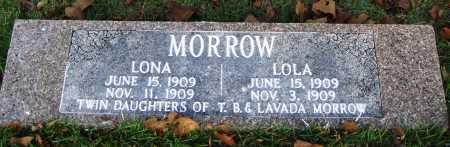 MORROW, LONA - Conway County, Arkansas | LONA MORROW - Arkansas Gravestone Photos