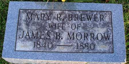 BREWER MORROW, MARY R. - Conway County, Arkansas | MARY R. BREWER MORROW - Arkansas Gravestone Photos