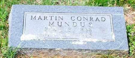 MUNDUS, MARTIN CONRAD - Conway County, Arkansas | MARTIN CONRAD MUNDUS - Arkansas Gravestone Photos