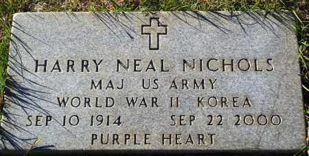 NICHOLS  (VETERAN 2 WARS), HARRY NEAL - Conway County, Arkansas | HARRY NEAL NICHOLS  (VETERAN 2 WARS) - Arkansas Gravestone Photos