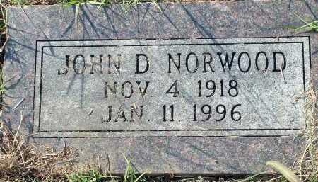 NORWOOD, JOHN D. - Conway County, Arkansas | JOHN D. NORWOOD - Arkansas Gravestone Photos