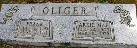 OLIGER, ARKIE MAE - Conway County, Arkansas   ARKIE MAE OLIGER - Arkansas Gravestone Photos