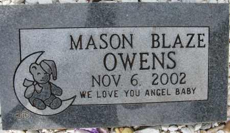 OWENS, MASON BLAZE - Conway County, Arkansas | MASON BLAZE OWENS - Arkansas Gravestone Photos
