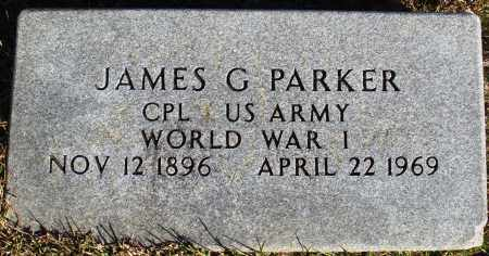 PARKER (VETERAN WWI), JAMES G - Conway County, Arkansas | JAMES G PARKER (VETERAN WWI) - Arkansas Gravestone Photos