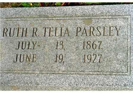 TELIA PARSLEY, RUTH R. - Conway County, Arkansas | RUTH R. TELIA PARSLEY - Arkansas Gravestone Photos