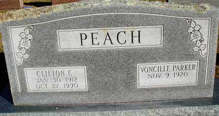 PEACH, CLIFTON C. - Conway County, Arkansas   CLIFTON C. PEACH - Arkansas Gravestone Photos
