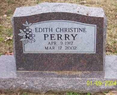 PERRY, EDITH CHRISTINE - Conway County, Arkansas | EDITH CHRISTINE PERRY - Arkansas Gravestone Photos