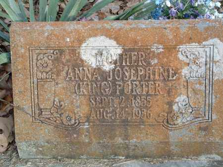 PORTER, ANNA JOSEPHINE - Conway County, Arkansas | ANNA JOSEPHINE PORTER - Arkansas Gravestone Photos