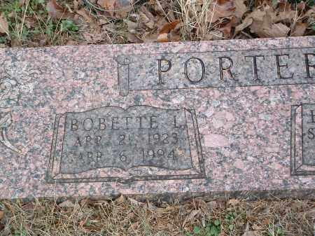 PORTER, BOBETTE L. - Conway County, Arkansas   BOBETTE L. PORTER - Arkansas Gravestone Photos