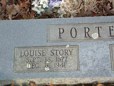 STORY PORTER, LOUISE - Conway County, Arkansas | LOUISE STORY PORTER - Arkansas Gravestone Photos