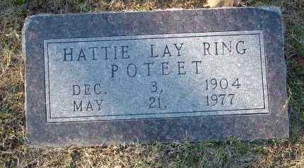 RING POTEET, HATTIE LAY - Conway County, Arkansas | HATTIE LAY RING POTEET - Arkansas Gravestone Photos