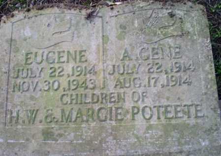 POTEETE, A. GENE - Conway County, Arkansas | A. GENE POTEETE - Arkansas Gravestone Photos