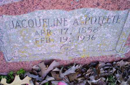 POTEETE, JACQUELINE A. - Conway County, Arkansas | JACQUELINE A. POTEETE - Arkansas Gravestone Photos