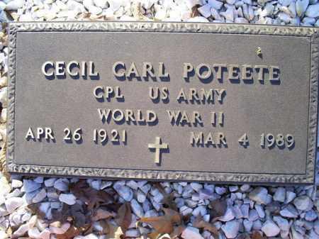 POTEETE (VETERAN WWII), CECIL CARL - Conway County, Arkansas | CECIL CARL POTEETE (VETERAN WWII) - Arkansas Gravestone Photos