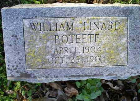 POTEETE, WILLIAM LINARD - Conway County, Arkansas | WILLIAM LINARD POTEETE - Arkansas Gravestone Photos
