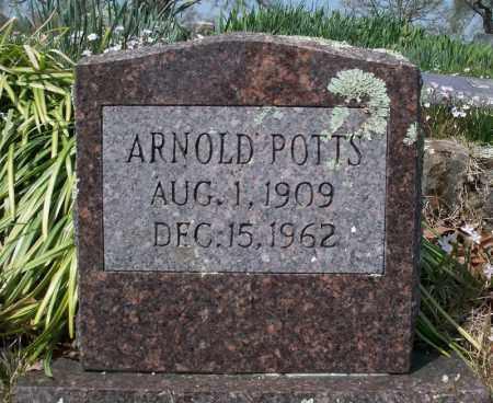 POTTS, ARNOLD - Conway County, Arkansas | ARNOLD POTTS - Arkansas Gravestone Photos