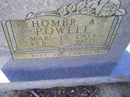 POWELL, HOMER A. - Conway County, Arkansas   HOMER A. POWELL - Arkansas Gravestone Photos