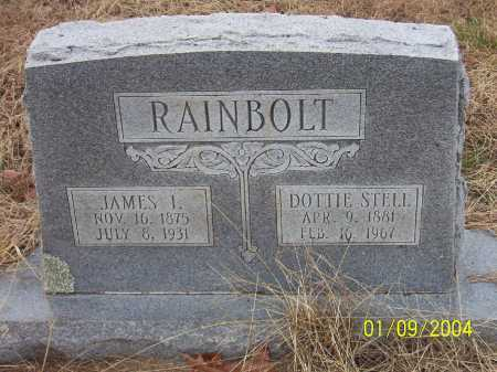 STELL RAINBOLT, DOTTIE B. - Conway County, Arkansas | DOTTIE B. STELL RAINBOLT - Arkansas Gravestone Photos
