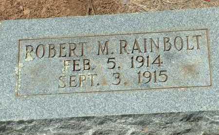 RAINBOLT, ROBERT M. - Conway County, Arkansas   ROBERT M. RAINBOLT - Arkansas Gravestone Photos