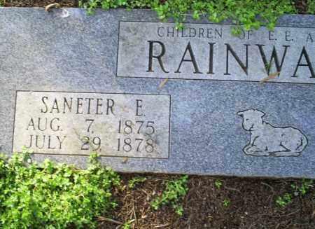 RAINWATER, SANETER E. - Conway County, Arkansas   SANETER E. RAINWATER - Arkansas Gravestone Photos