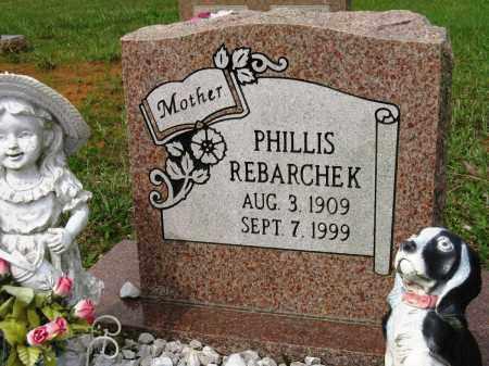 REBARCHEK, PHILLIS - Conway County, Arkansas | PHILLIS REBARCHEK - Arkansas Gravestone Photos
