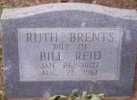 BRENTS REID, RUTH - Conway County, Arkansas | RUTH BRENTS REID - Arkansas Gravestone Photos