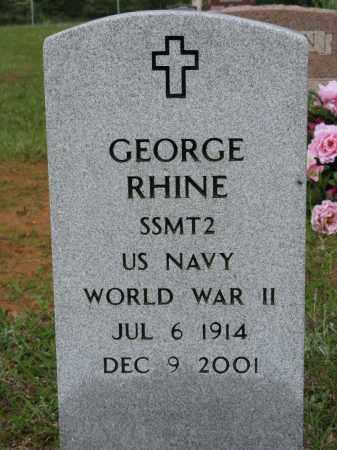 RHINE (VETERAN WWII), GEORGE - Conway County, Arkansas | GEORGE RHINE (VETERAN WWII) - Arkansas Gravestone Photos