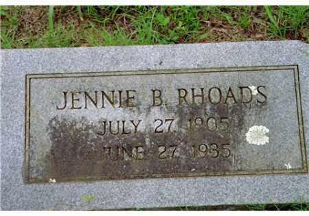 RHOADS, JENNIE BELL - Conway County, Arkansas | JENNIE BELL RHOADS - Arkansas Gravestone Photos