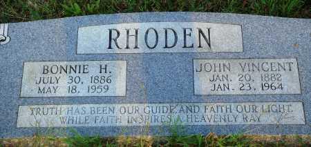 RHODEN, BONNIE H. - Conway County, Arkansas | BONNIE H. RHODEN - Arkansas Gravestone Photos