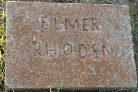 RHODEN, ELMER - Conway County, Arkansas   ELMER RHODEN - Arkansas Gravestone Photos