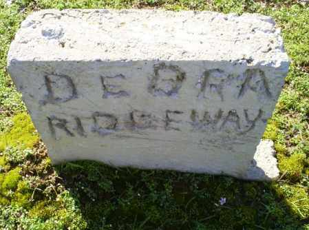RIDGEWAY, DEBRA - Conway County, Arkansas | DEBRA RIDGEWAY - Arkansas Gravestone Photos