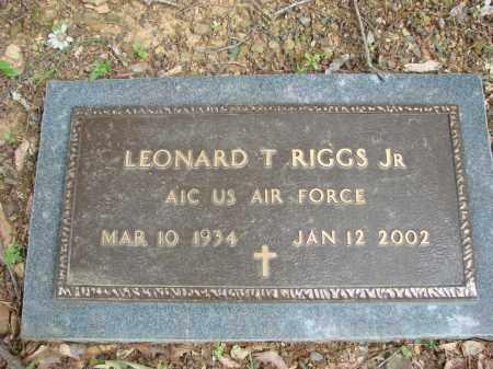 RIGGS, JR (VETERAN), LEONARD T - Conway County, Arkansas | LEONARD T RIGGS, JR (VETERAN) - Arkansas Gravestone Photos