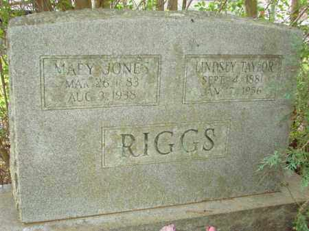 RIGGS, MARY - Conway County, Arkansas | MARY RIGGS - Arkansas Gravestone Photos