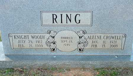 CROWELL RING, ALEENE - Conway County, Arkansas | ALEENE CROWELL RING - Arkansas Gravestone Photos