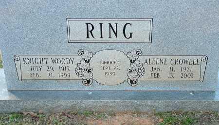RING, KNIGHT WOODY - Conway County, Arkansas | KNIGHT WOODY RING - Arkansas Gravestone Photos