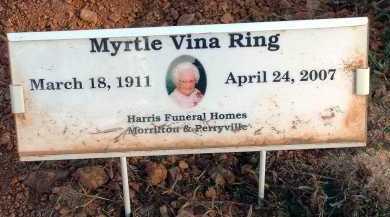 MCKOWN RING, MYRTLE VINA - Conway County, Arkansas   MYRTLE VINA MCKOWN RING - Arkansas Gravestone Photos