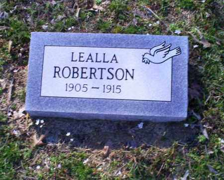 ROBERTSON, LEALLA - Conway County, Arkansas | LEALLA ROBERTSON - Arkansas Gravestone Photos