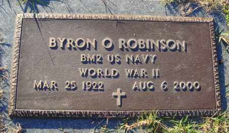 ROBINSON (VETERAN WWII), BYRON O - Conway County, Arkansas | BYRON O ROBINSON (VETERAN WWII) - Arkansas Gravestone Photos