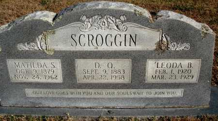 SCROGGIN, LEODA B. - Conway County, Arkansas | LEODA B. SCROGGIN - Arkansas Gravestone Photos