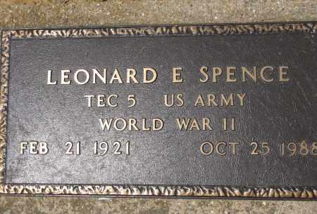 SPENCE (VETERAN WWII), LEONARD E - Conway County, Arkansas | LEONARD E SPENCE (VETERAN WWII) - Arkansas Gravestone Photos