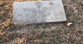 SPENCE, WALTER T. - Conway County, Arkansas | WALTER T. SPENCE - Arkansas Gravestone Photos