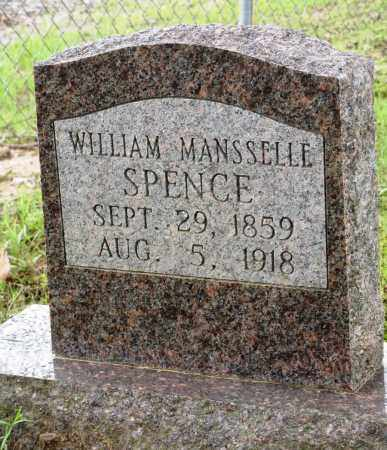SPENCE, WILLIAM MANSSELLE - Conway County, Arkansas | WILLIAM MANSSELLE SPENCE - Arkansas Gravestone Photos