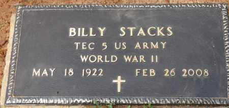 STACKS (VETERAN WWII), BILLY - Conway County, Arkansas | BILLY STACKS (VETERAN WWII) - Arkansas Gravestone Photos
