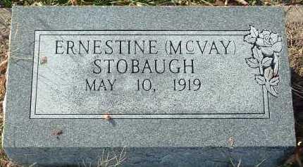 MCVAY STOBAUGH, ERNESTINE - Conway County, Arkansas   ERNESTINE MCVAY STOBAUGH - Arkansas Gravestone Photos