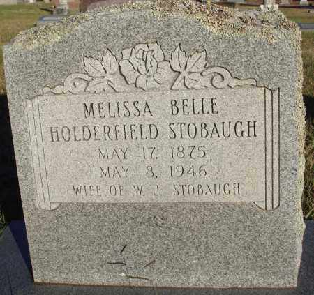 HOLDERFIELD STOBAUGH, MELISSA BELLE - Conway County, Arkansas | MELISSA BELLE HOLDERFIELD STOBAUGH - Arkansas Gravestone Photos