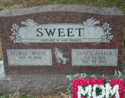 SWEET, JANICE PARKER - Conway County, Arkansas | JANICE PARKER SWEET - Arkansas Gravestone Photos